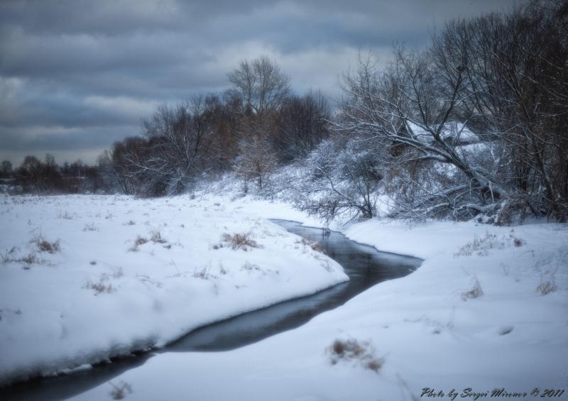 Зимний вид на Яузе