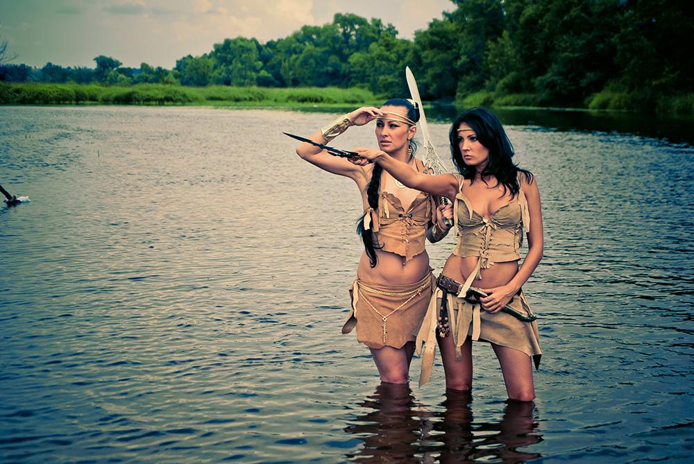 если фото красивых амазонок мокрым ротором