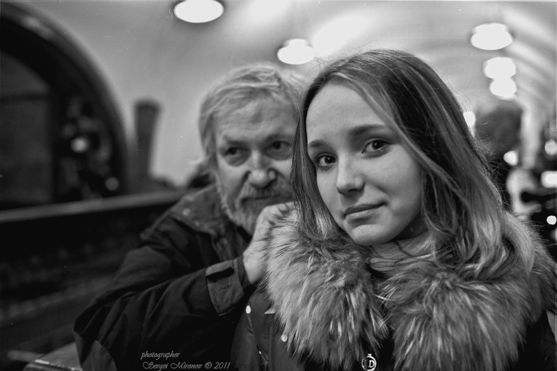 портрет в метро