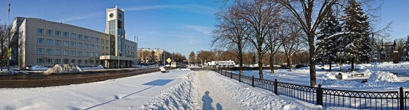 Мытищи, вид на здание Администрации и Ново-Мытищинский проспект