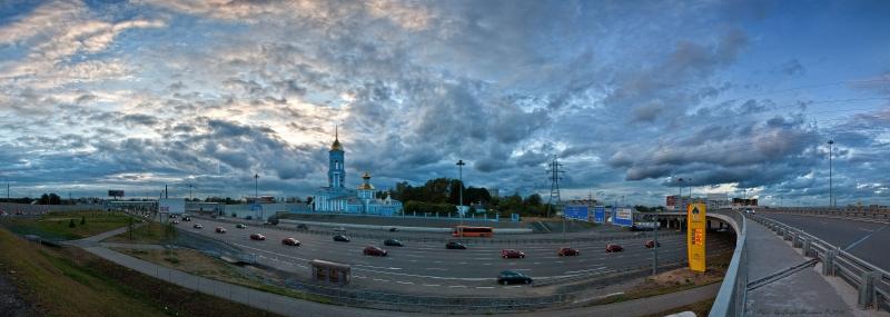 Ярославское шоссе, развязка г. Мытищи - 9 вечера