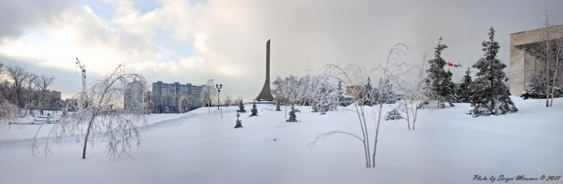 мой город зимой
