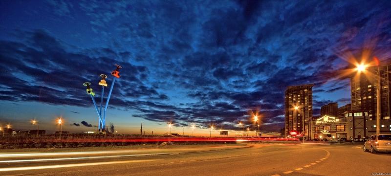 ночной город Мытищи