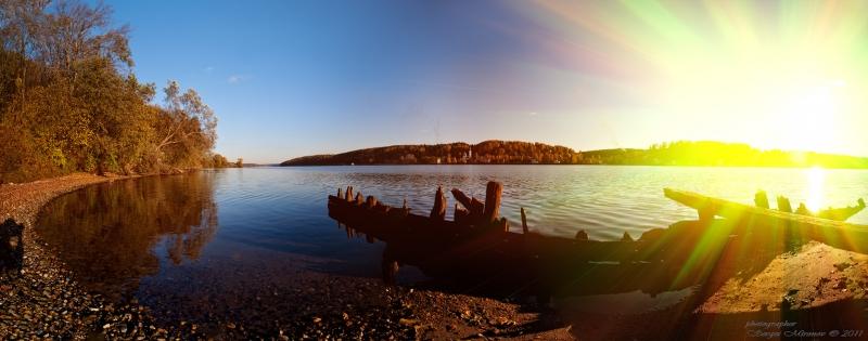 Волга, панорама на закете около г. Плёс
