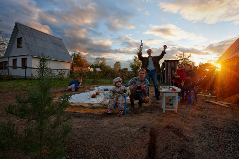 Семейный портрет на закате