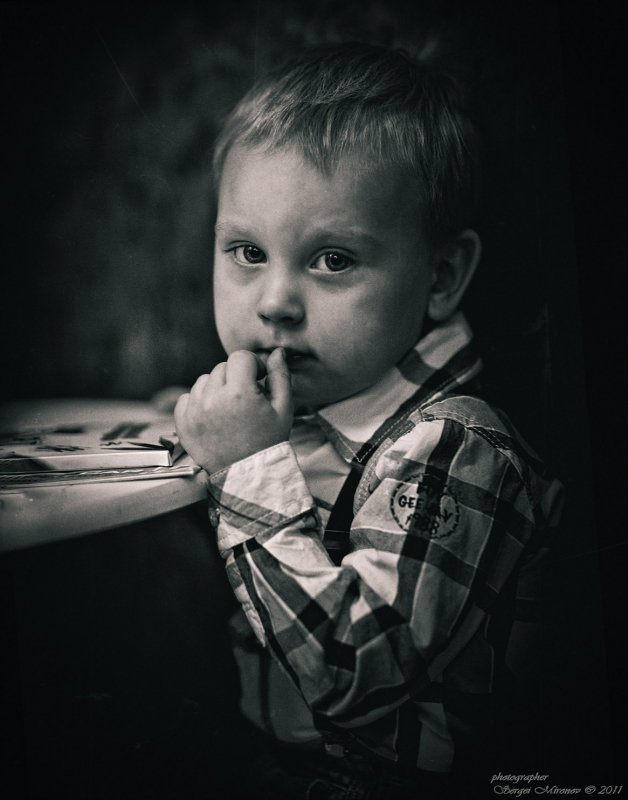 ч\б портрет мальчика