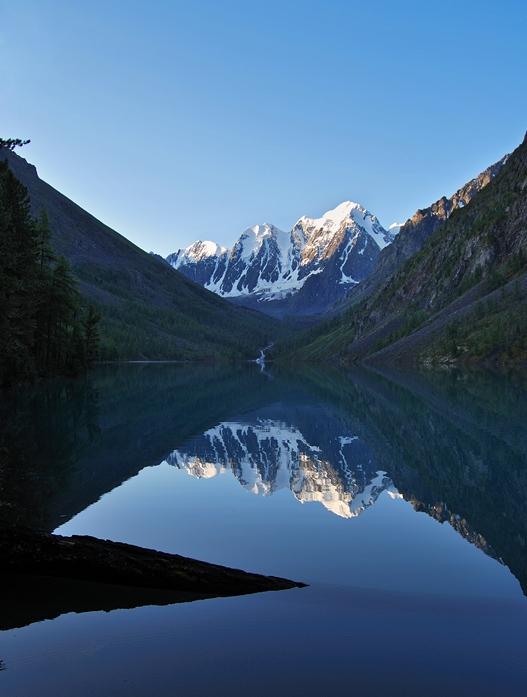 Рассвет на Шавлинском озере