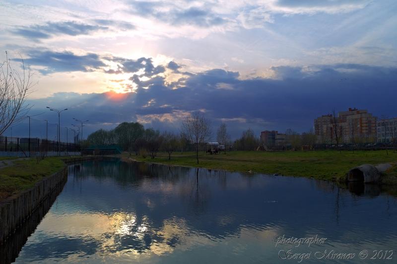 закат на реке Яуза