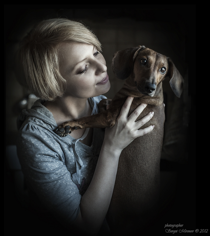 портрет дамы с собачкой