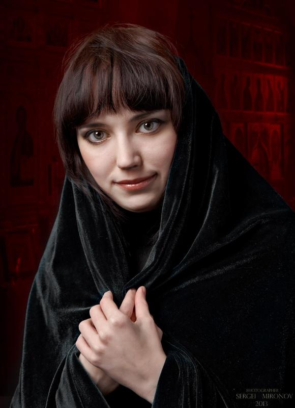 портрет с покрывалом