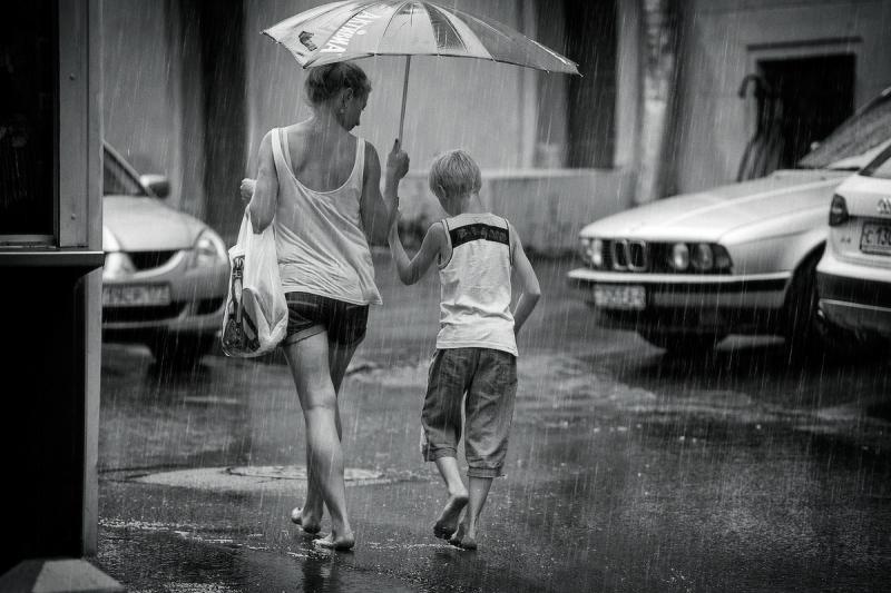 тёплый летний дождь