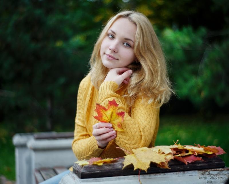 Осенний портрет дочери