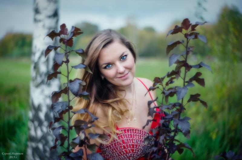 портрет в осеннем парке
