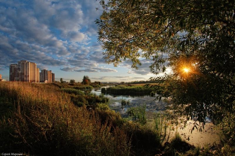 Мытищи, река Сукромка на закате