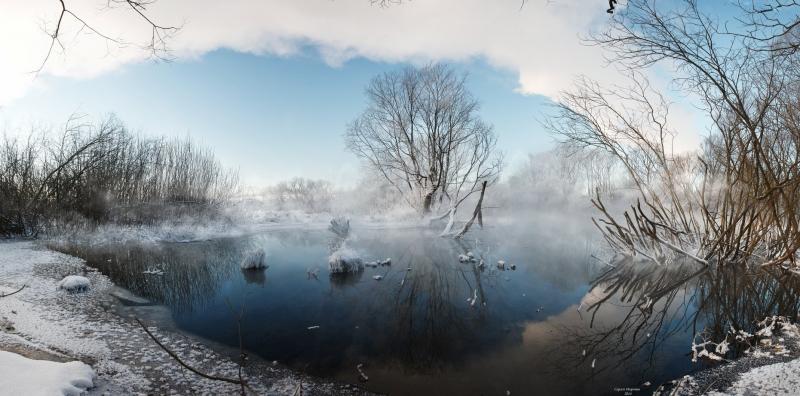 зима на реке Сукромка