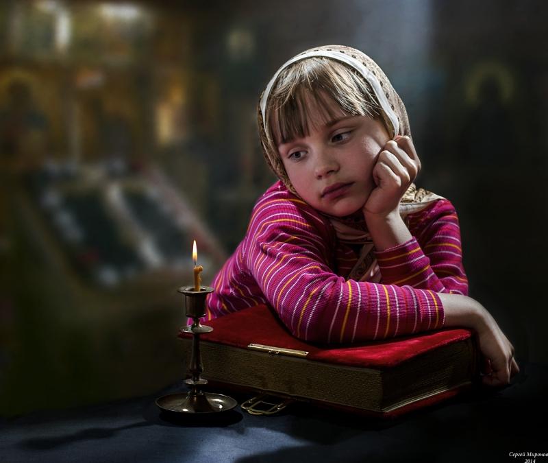 портрет со свечой