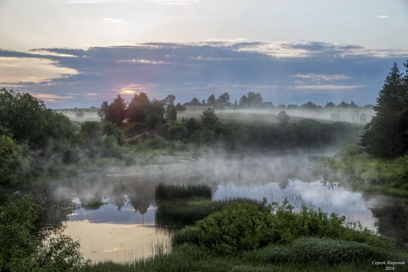 Расвет на реке Вага (Вологодская обл.)