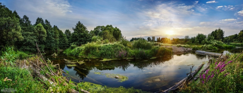 закат на реке Каширка (Ступинский район)