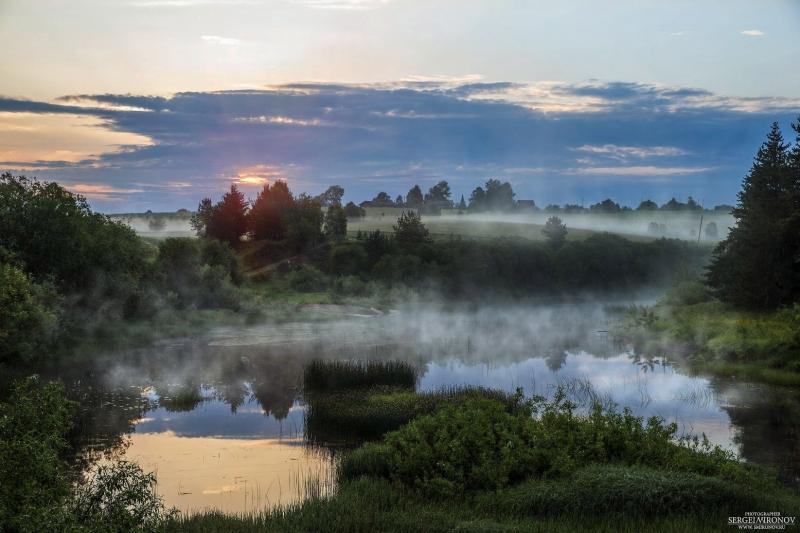 река Вага, рассвет