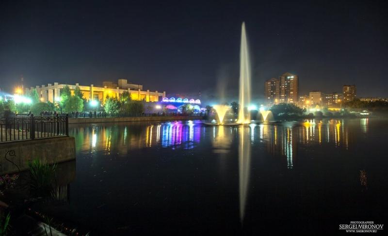 город Мытищи и река Яуза