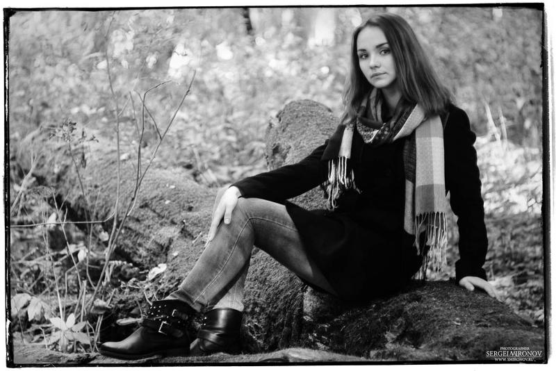 лесной портрет дочери