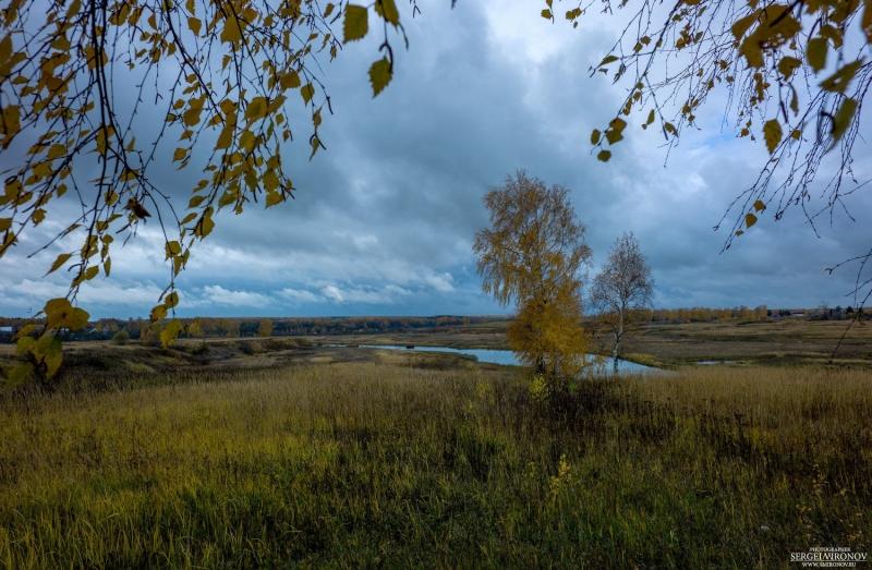 река Нерета, осень