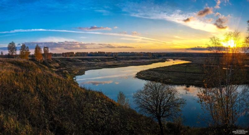 закат на реке Нерехта