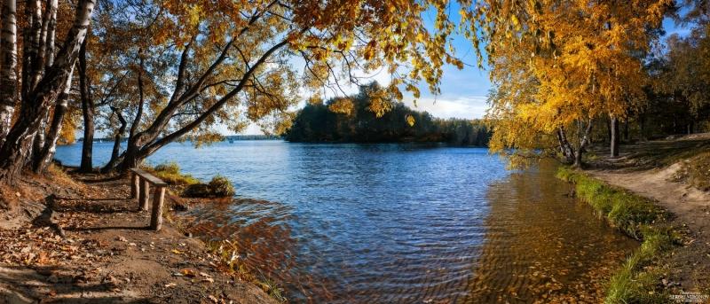 осенний вид на Пироговское водохранилище