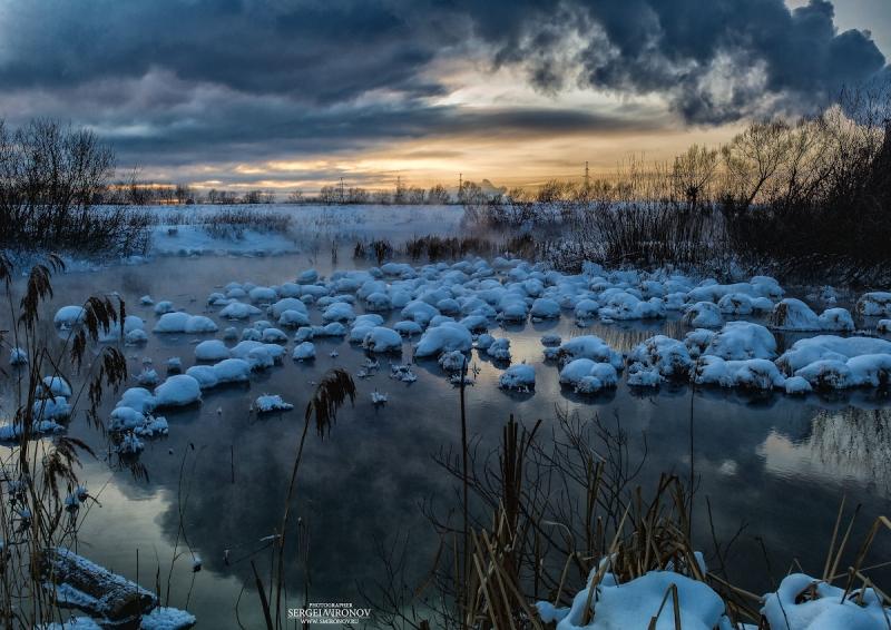 закатный вид на реке Сукромка