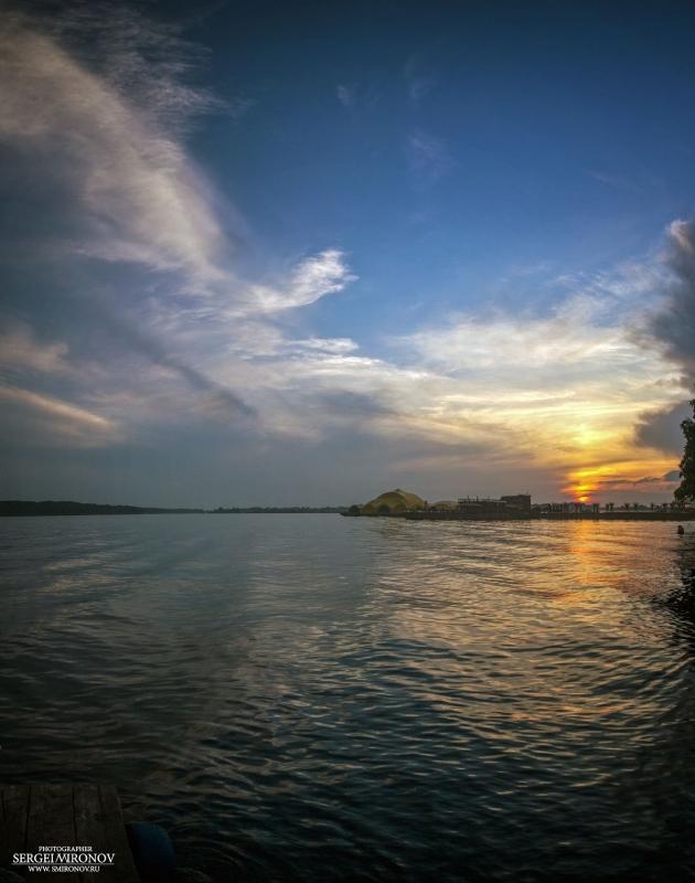 закат на Клязьминском водохранилище