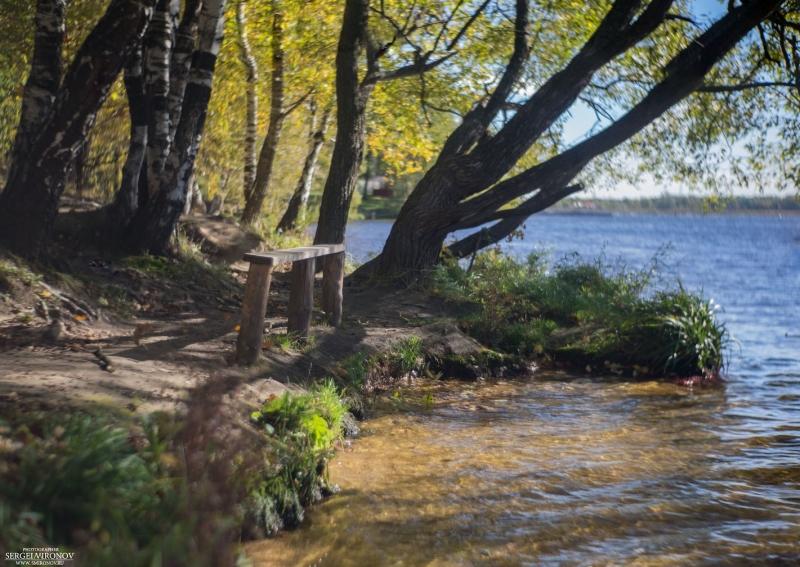 скамейка и осень