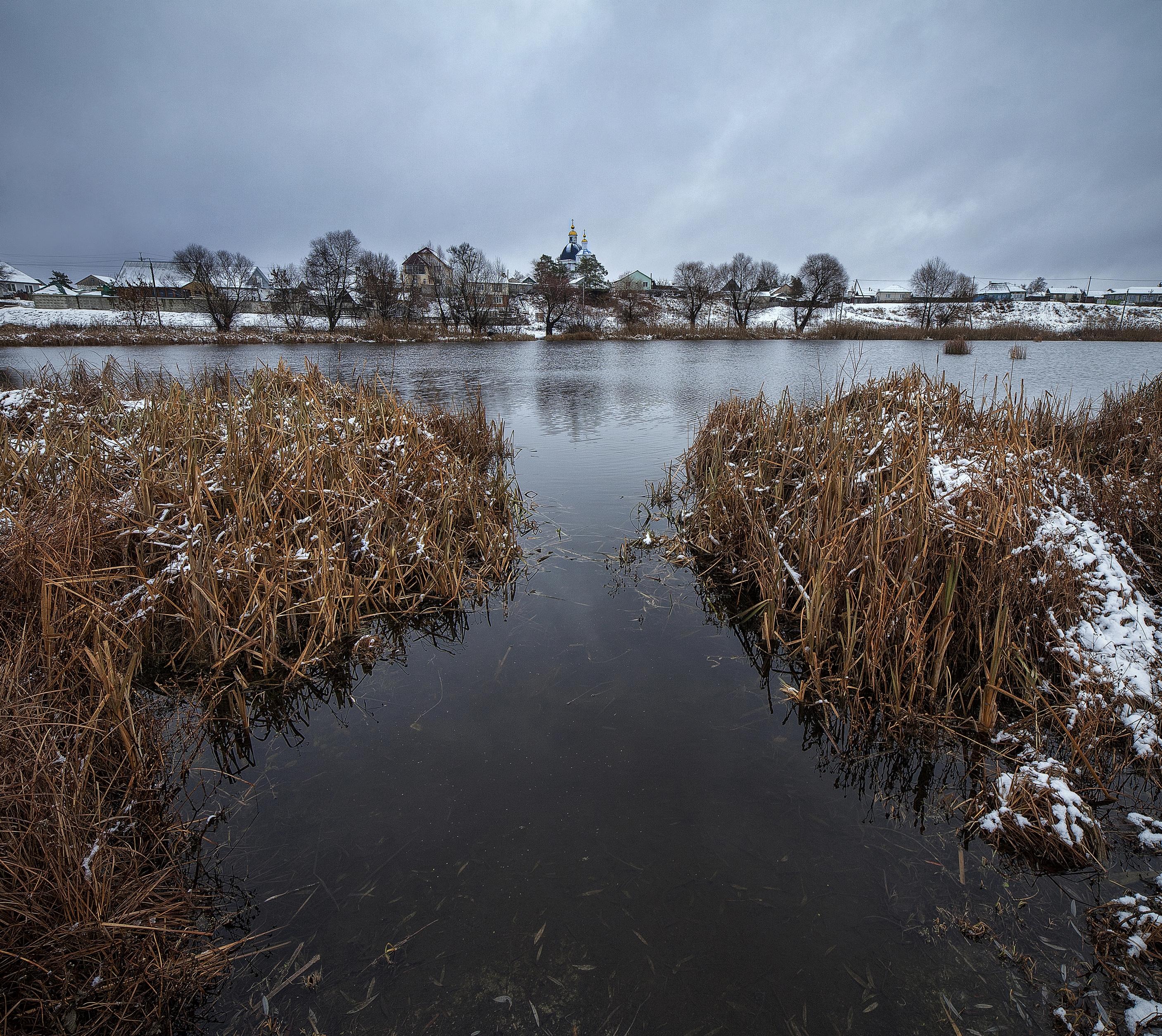 Снежное утро на озере | Николай Зайцев | Фотография #159152