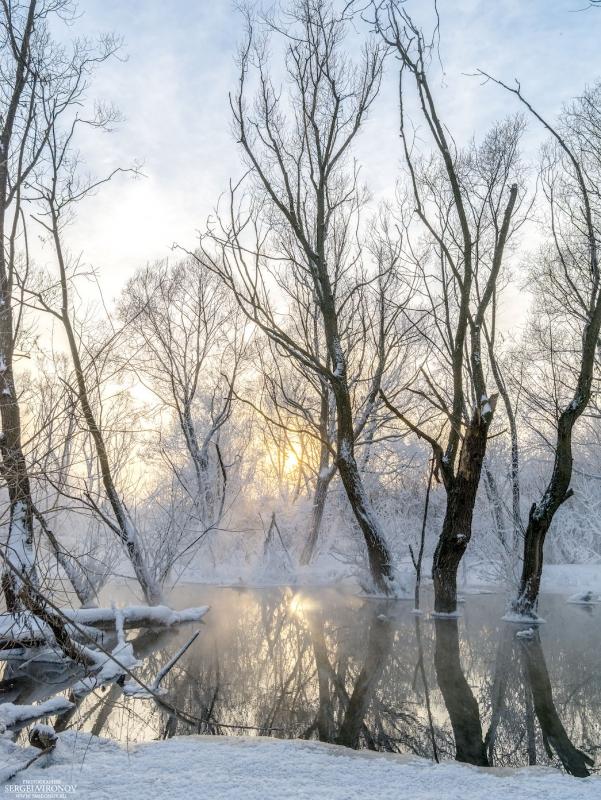 Зимний вид на реке