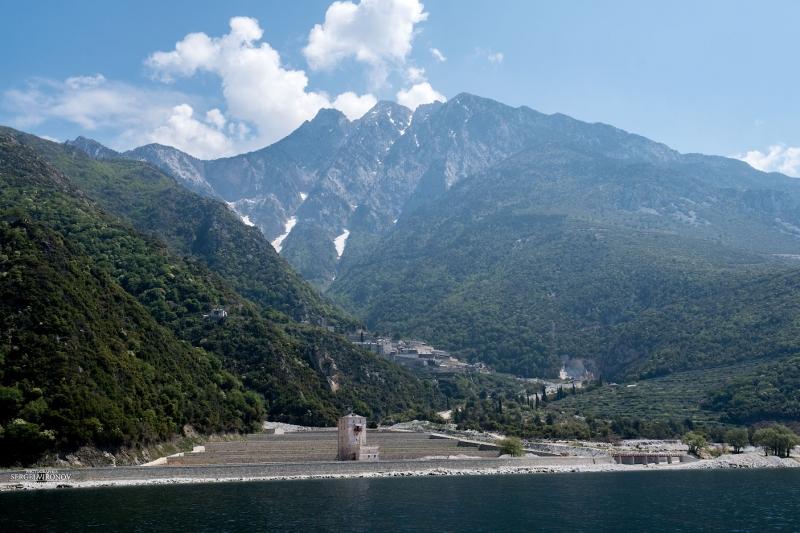 гора Афон и монастырь апостола Павла