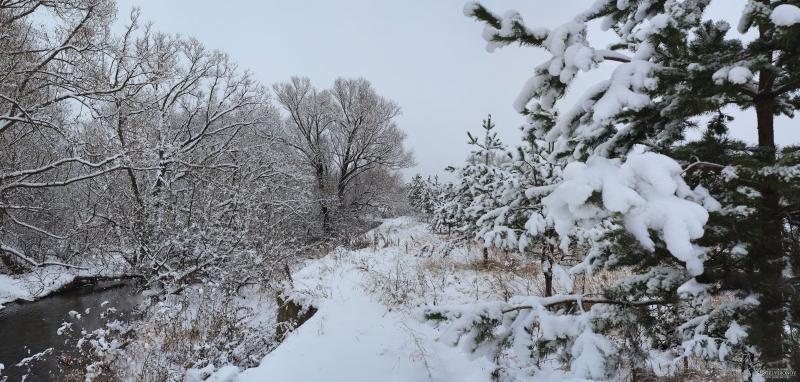 река Яуза, первый снег