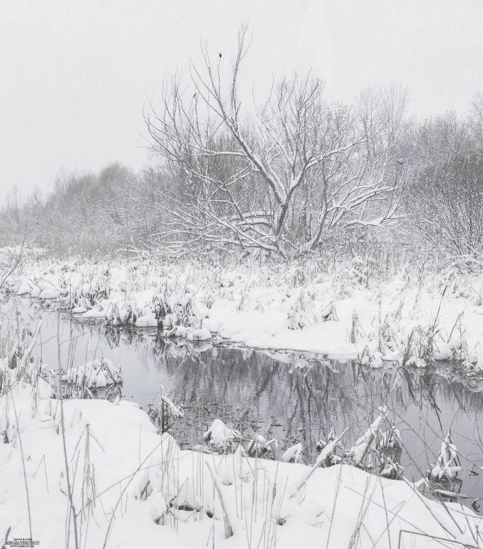река Яуза, зима