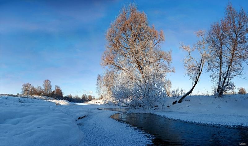 Мороз и солнце, и река...