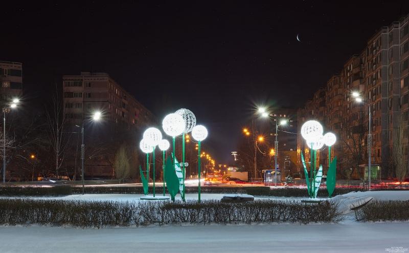 Ночь, улица.., луна