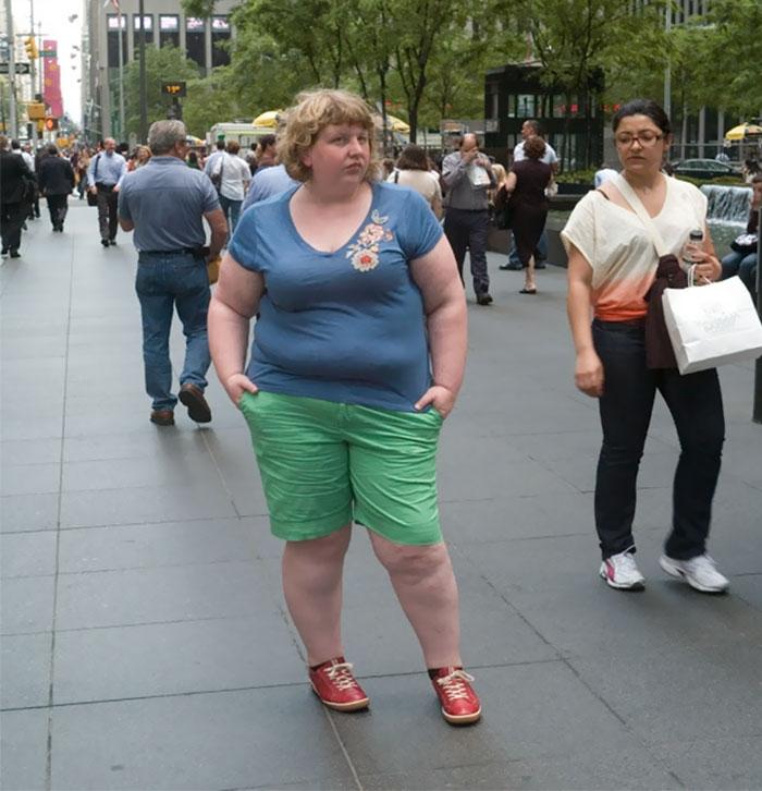 Haley Morris-Cafiero: реакция прохожих на людей с лишним весом |  INSPIDER | Статья | Текст #204951