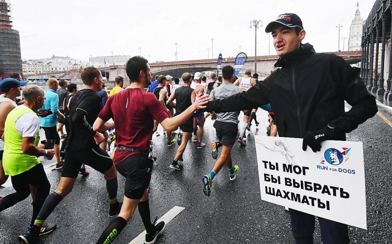 Люди дождя. Как прошел ежегодный московский марафон