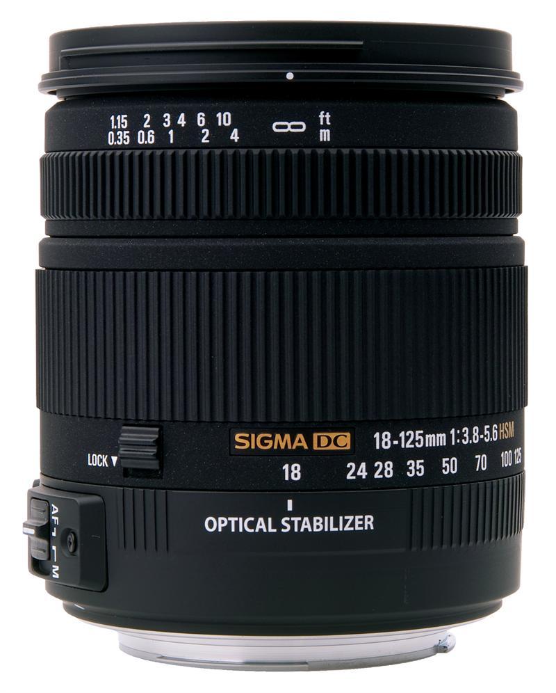 Sigma 18-125mm F3.8-5.6 DC OS HSM | Объективы | Техника #455